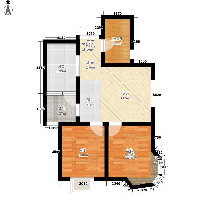海轩梦想10073.66㎡5#3-02户型2室2厅