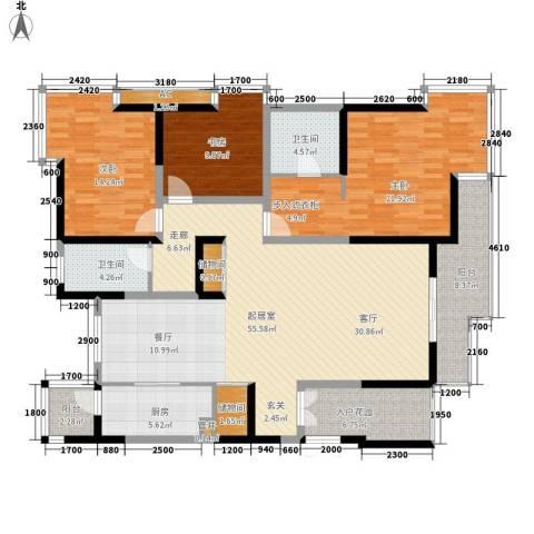 九锦台3室0厅2卫1厨167.00㎡户型图
