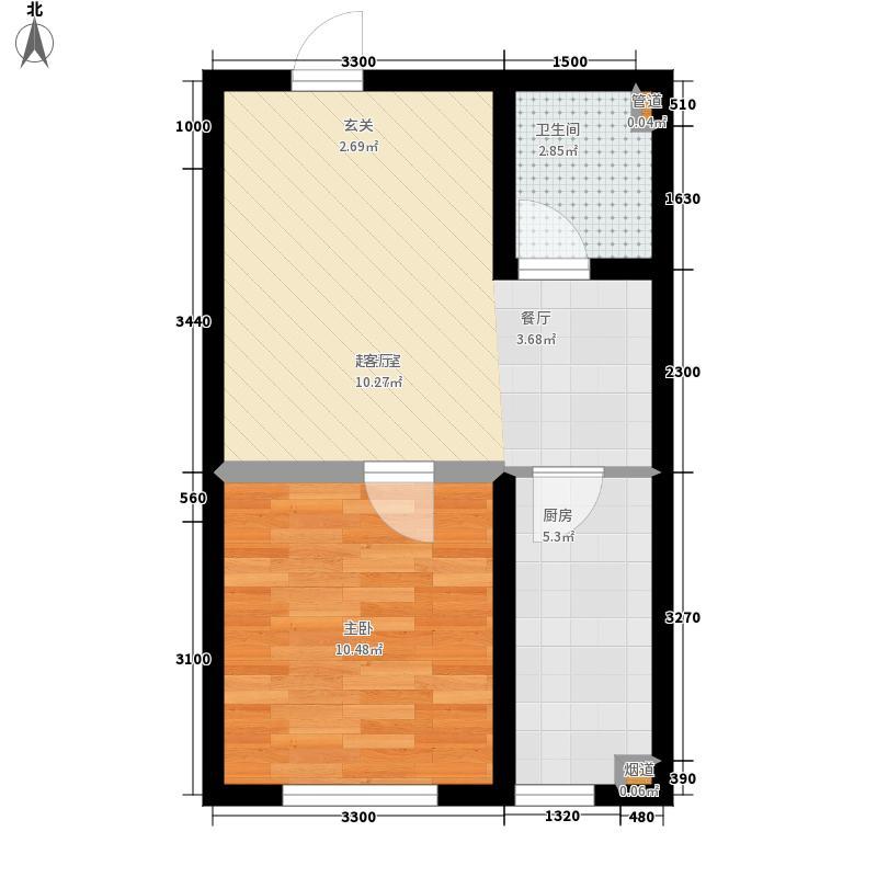首府国际公馆首府国际公馆户型图一室一厅一卫(1/1张)户型10室
