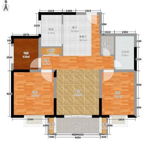 菁华名门3室1厅1卫1厨108.00㎡户型图