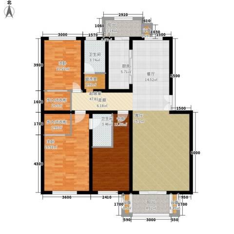 盛世景苑3室0厅2卫1厨164.00㎡户型图