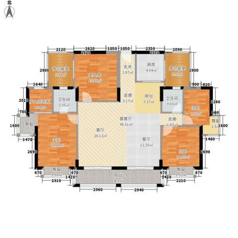 润沁园4室1厅2卫1厨179.00㎡户型图