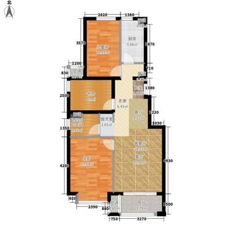 桥机嘉园3室1厅1卫1厨105.00㎡户型图
