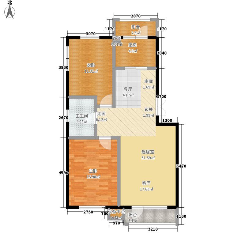 龙祥嘉园88.66㎡龙祥嘉园户型图二期C户型2室2厅1卫(2/6张)户型10室