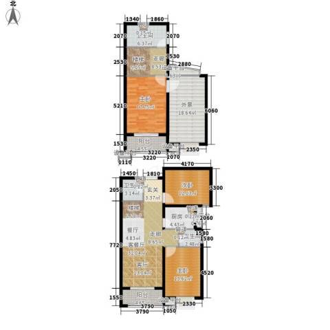 富源城3室1厅3卫1厨152.00㎡户型图