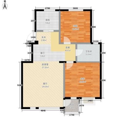 海景华城2室0厅1卫1厨78.36㎡户型图