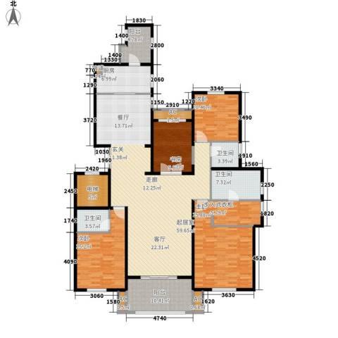 中海御湖1号4室0厅3卫1厨200.00㎡户型图
