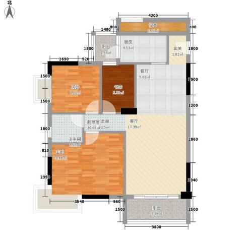 星云轩3室0厅1卫1厨100.00㎡户型图
