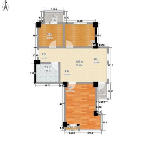 海景华城2室0厅1卫1厨62.48㎡户型图