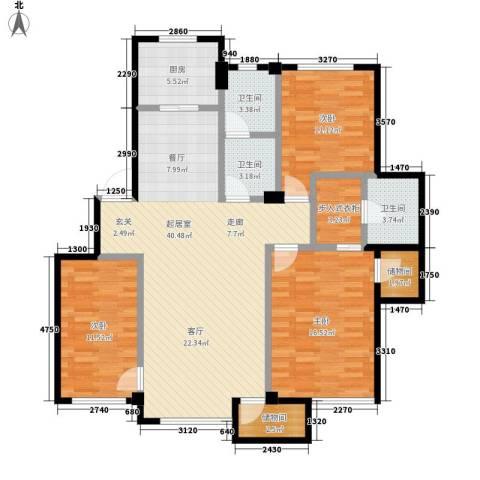 海景华城3室0厅3卫1厨117.00㎡户型图