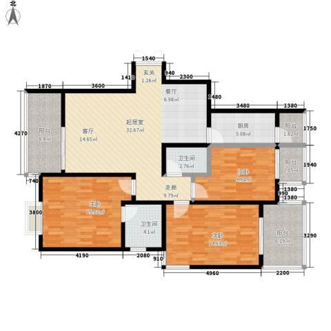 榕青无界3室0厅2卫1厨115.00㎡户型图