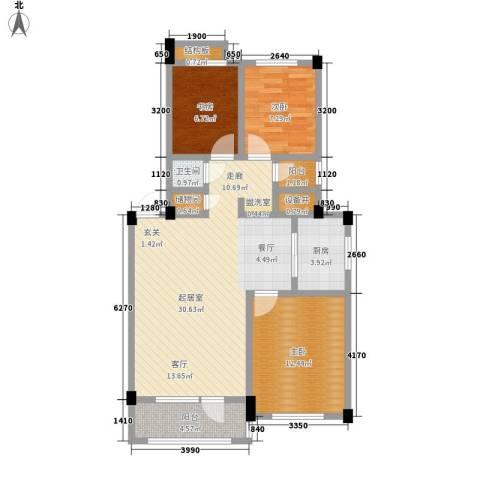 凤凰山花园3室0厅1卫1厨88.00㎡户型图