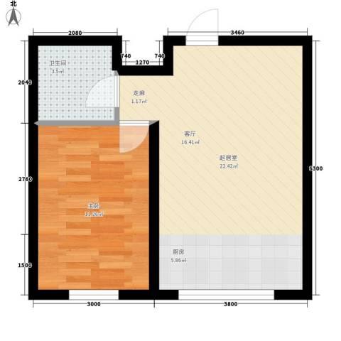阳光美地1室0厅1卫0厨49.00㎡户型图