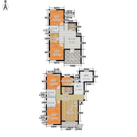 富源城4室1厅3卫1厨230.00㎡户型图
