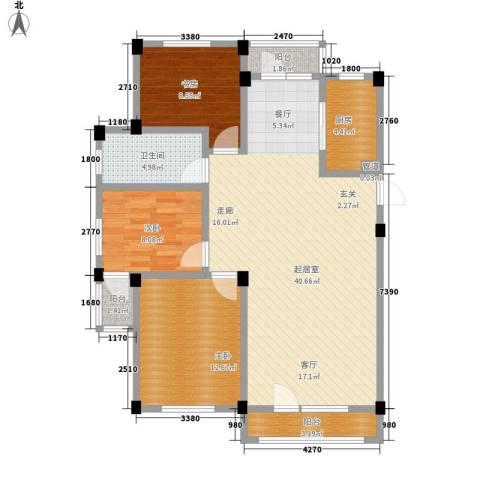 凤凰山花园3室0厅1卫1厨104.00㎡户型图