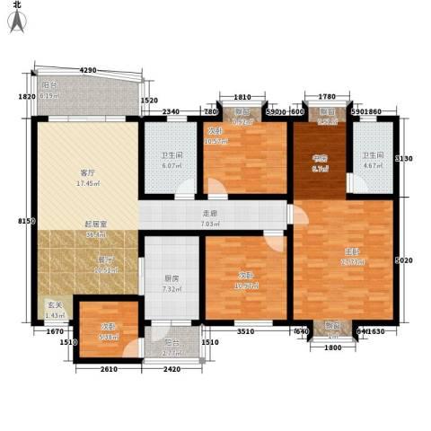 花都阳光家园4室0厅2卫1厨136.00㎡户型图