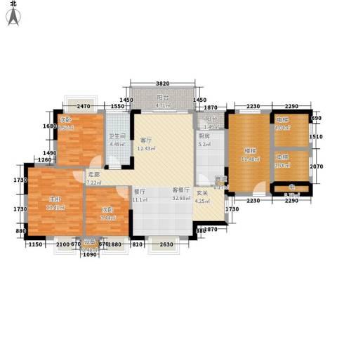 紫茗花园3室1厅1卫1厨112.97㎡户型图