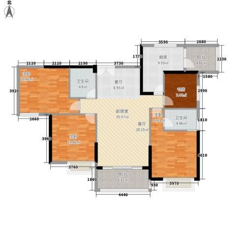 越秀上品轩4室0厅2卫1厨135.00㎡户型图