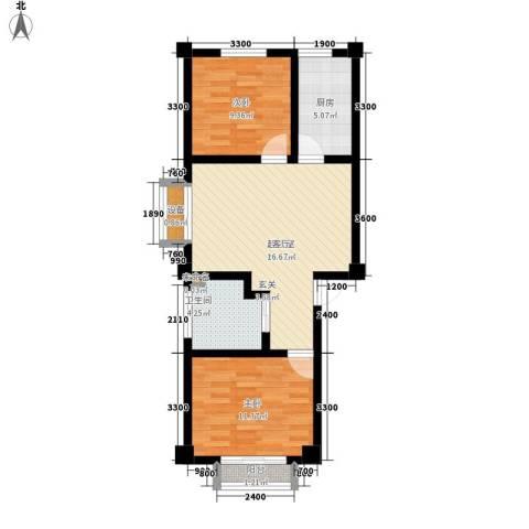 福鑫家园2室0厅1卫1厨78.00㎡户型图