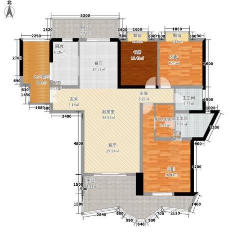盛南领地3室0厅2卫1厨162.00㎡户型图