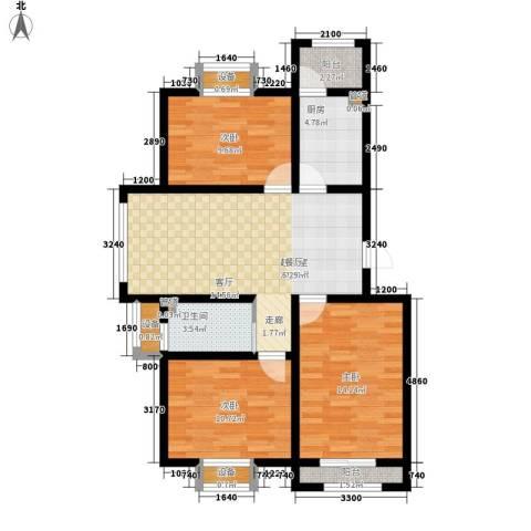 福鑫家园3室0厅1卫1厨106.00㎡户型图