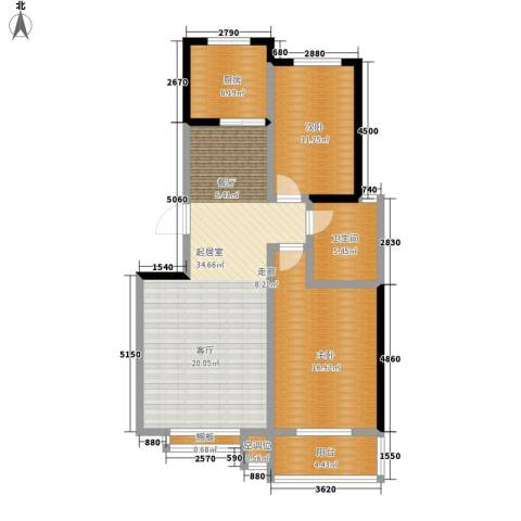 都市怡景2室0厅1卫1厨91.00㎡户型图
