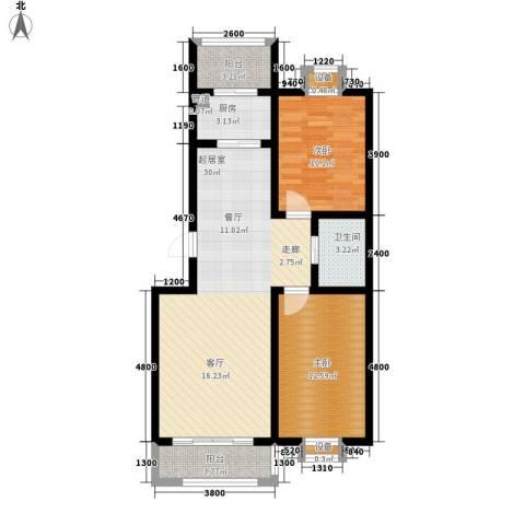 福鑫家园2室0厅1卫1厨98.00㎡户型图