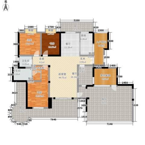 盛南领地3室0厅2卫1厨198.25㎡户型图