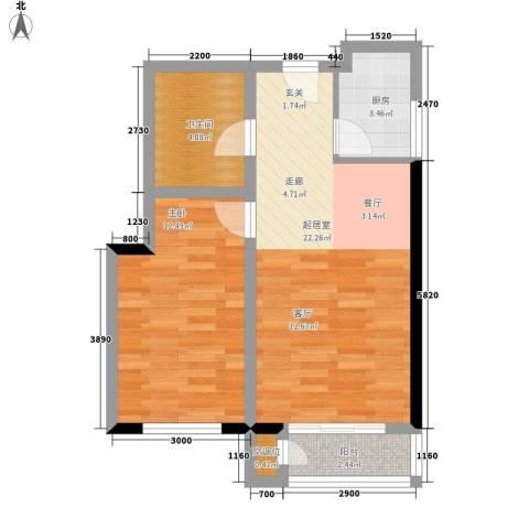 泰和小区1室0厅1卫1厨64.00㎡户型图