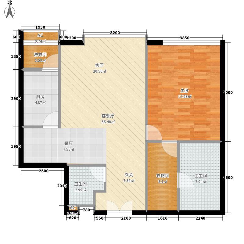 富力爱丁堡国际公寓104.88㎡面积10488m户型