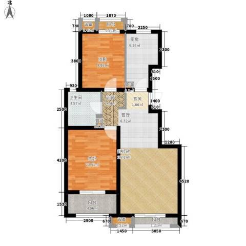 蓝海国际2室0厅1卫1厨99.00㎡户型图