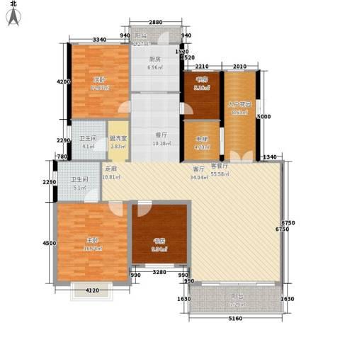 凤凰新城4室1厅2卫1厨178.00㎡户型图