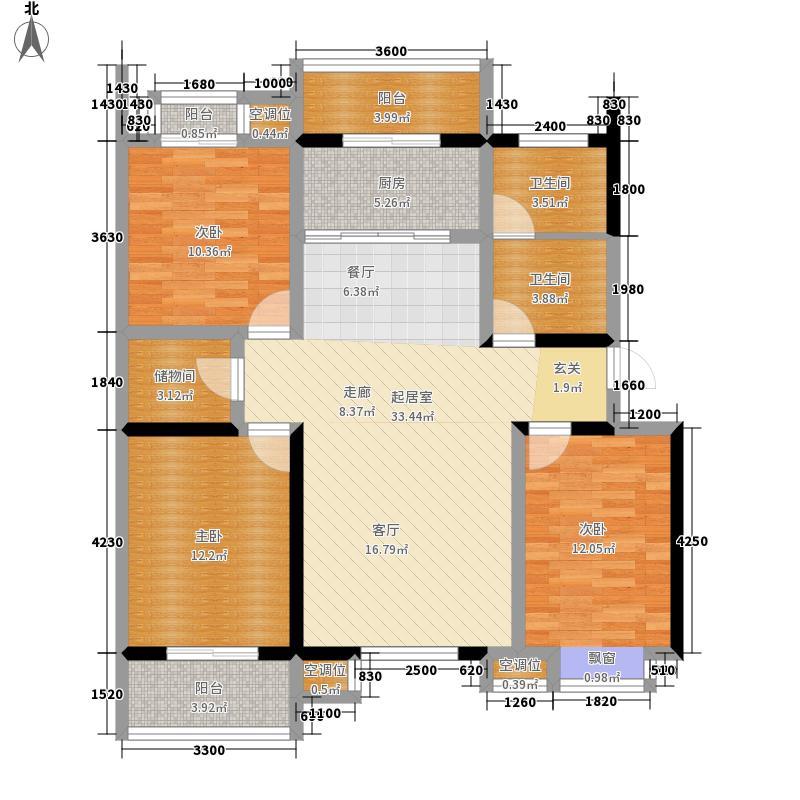 泰和小区126.71㎡D面积12671m户型