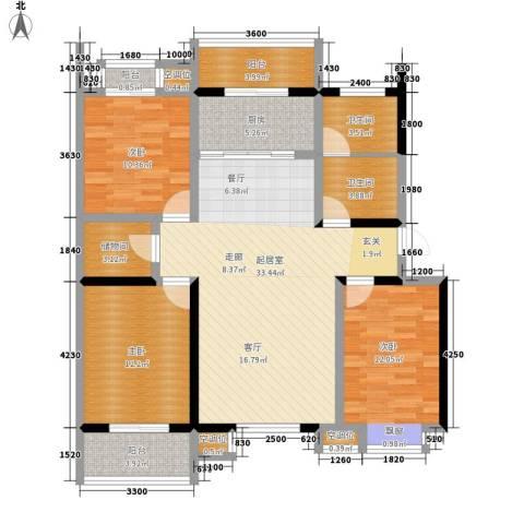 泰和小区3室0厅2卫1厨127.00㎡户型图