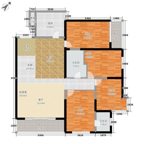 兴庆熙园4室0厅2卫1厨170.00㎡户型图