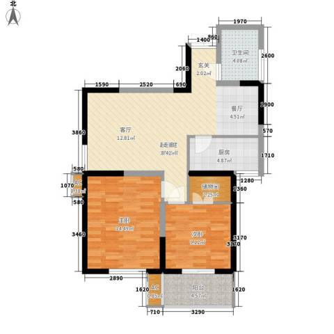 紫云溪2室0厅1卫1厨94.00㎡户型图