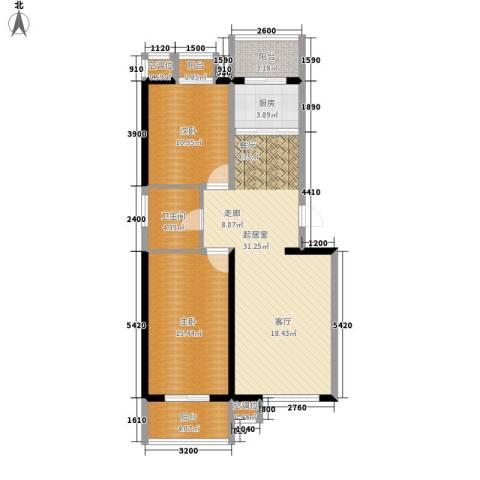 泰和小区2室0厅1卫1厨98.00㎡户型图