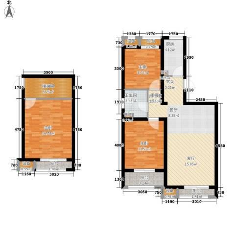蓝海国际3室0厅1卫1厨130.00㎡户型图