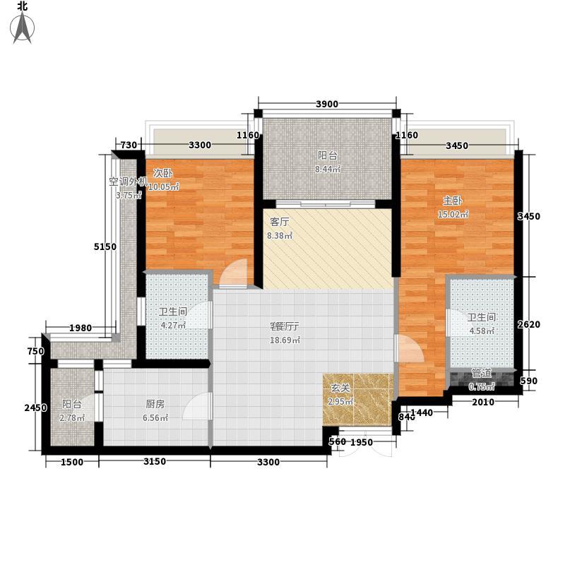 时代晶科名苑105.00㎡第三、六座面积10500m户型