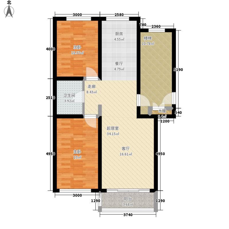 富兴花园88.00㎡富兴花园户型图富兴花园两居室(2/3张)户型10室
