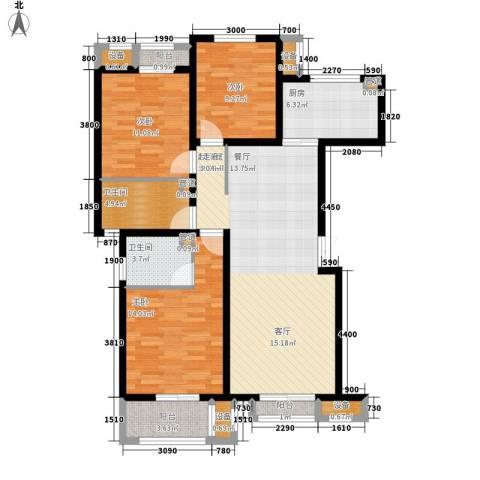 蓝海国际3室0厅2卫1厨132.00㎡户型图