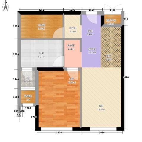 嘉润蓝湾1室0厅1卫1厨78.00㎡户型图