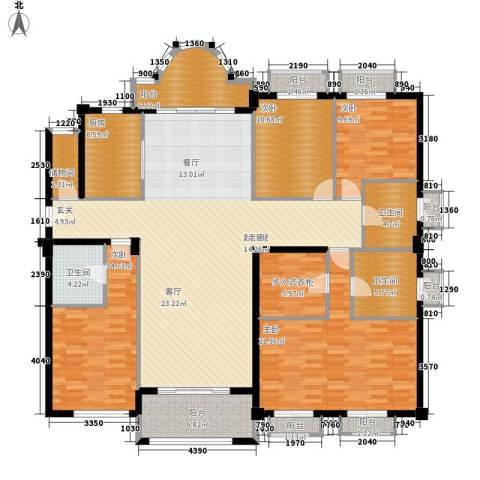 枫叶大厦4室0厅3卫1厨181.00㎡户型图