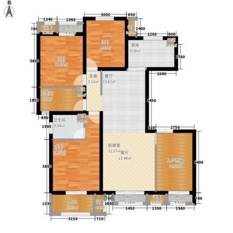 蓝海国际3室0厅2卫1厨149.00㎡户型图