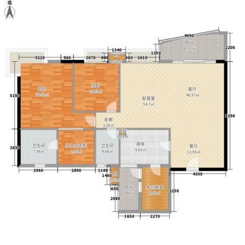 南湖半岛花园2室0厅2卫1厨153.00㎡户型图