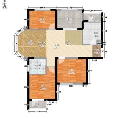 五琴花园3室1厅1卫1厨122.00㎡户型图
