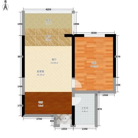 天伦盛世1室0厅1卫0厨61.12㎡户型图