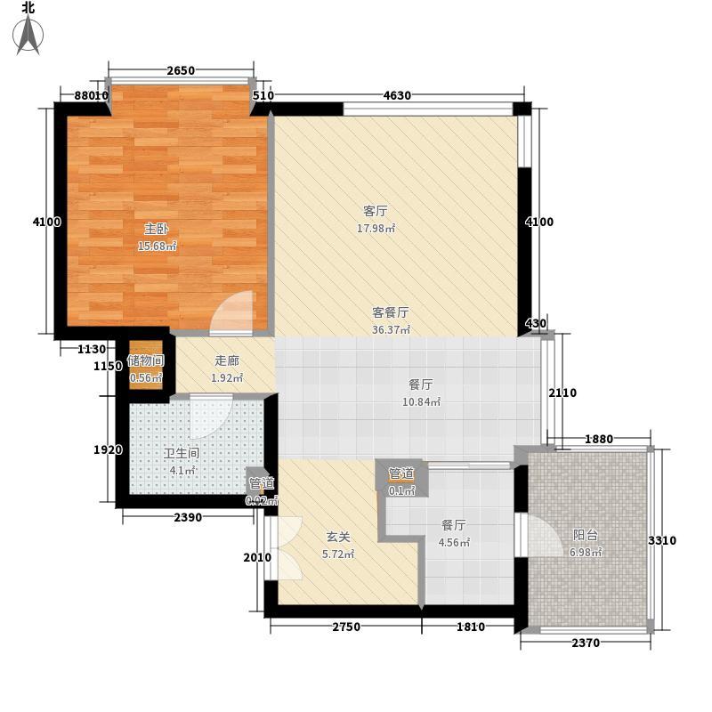 富力爱丁堡国际公寓81.53㎡面积8153m户型