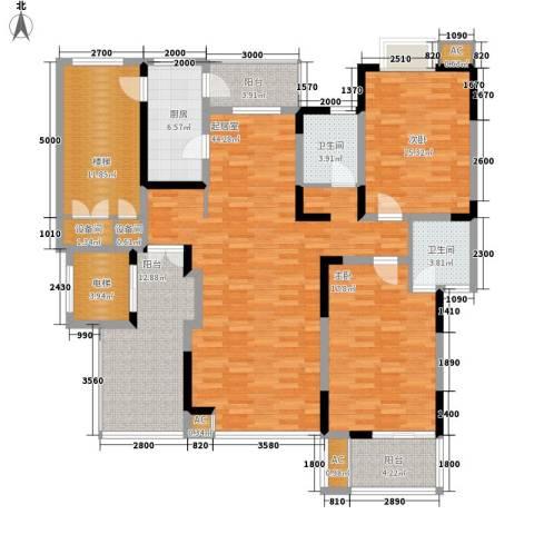 弘泽印象2室0厅2卫1厨191.00㎡户型图