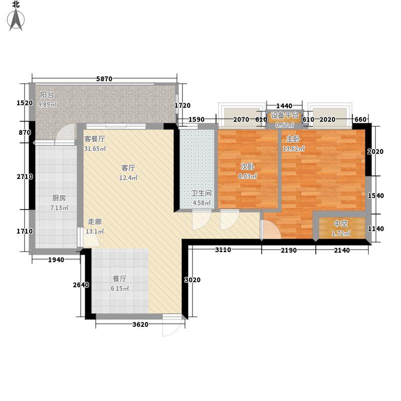 珠江都荟86.85㎡A3栋30-33层04单面积8685m户型